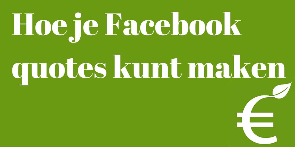 Hoe maak je een quote afbeelding voor een Facebook post?