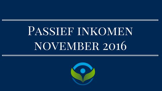 Passief inkomen november 2016