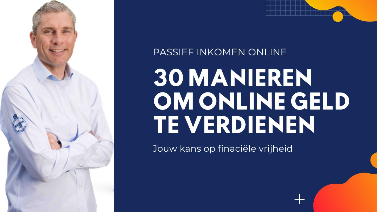 Passief inkomen online geld verdienen