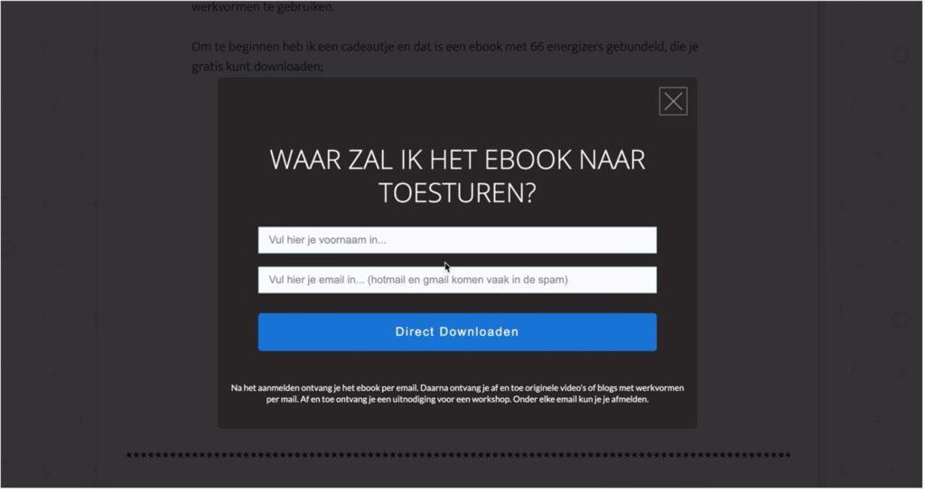 E-book maken.